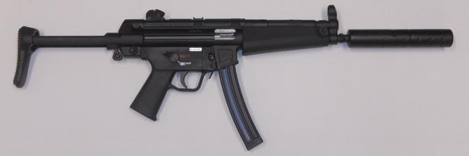 HK MP5 .22 w/ Knight's Armament Corporation fake suppressor shown