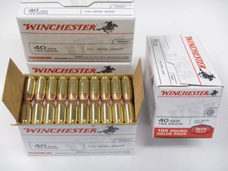 Winchester .40 FMJ $45.95/ 100rd box